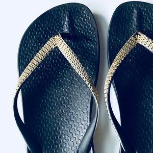628ab894b Ipanema Shoes - Ipanema Black Gold Summer Beach Flip Flops